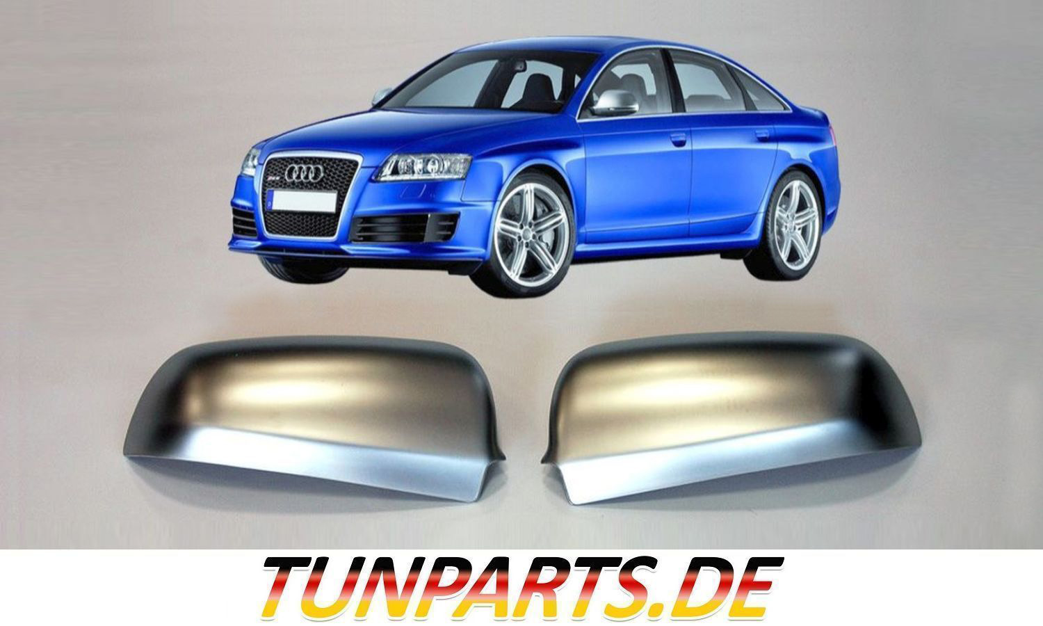 rs look spiegelkappen f r audi a3 a4 a6 tunparts online shop. Black Bedroom Furniture Sets. Home Design Ideas