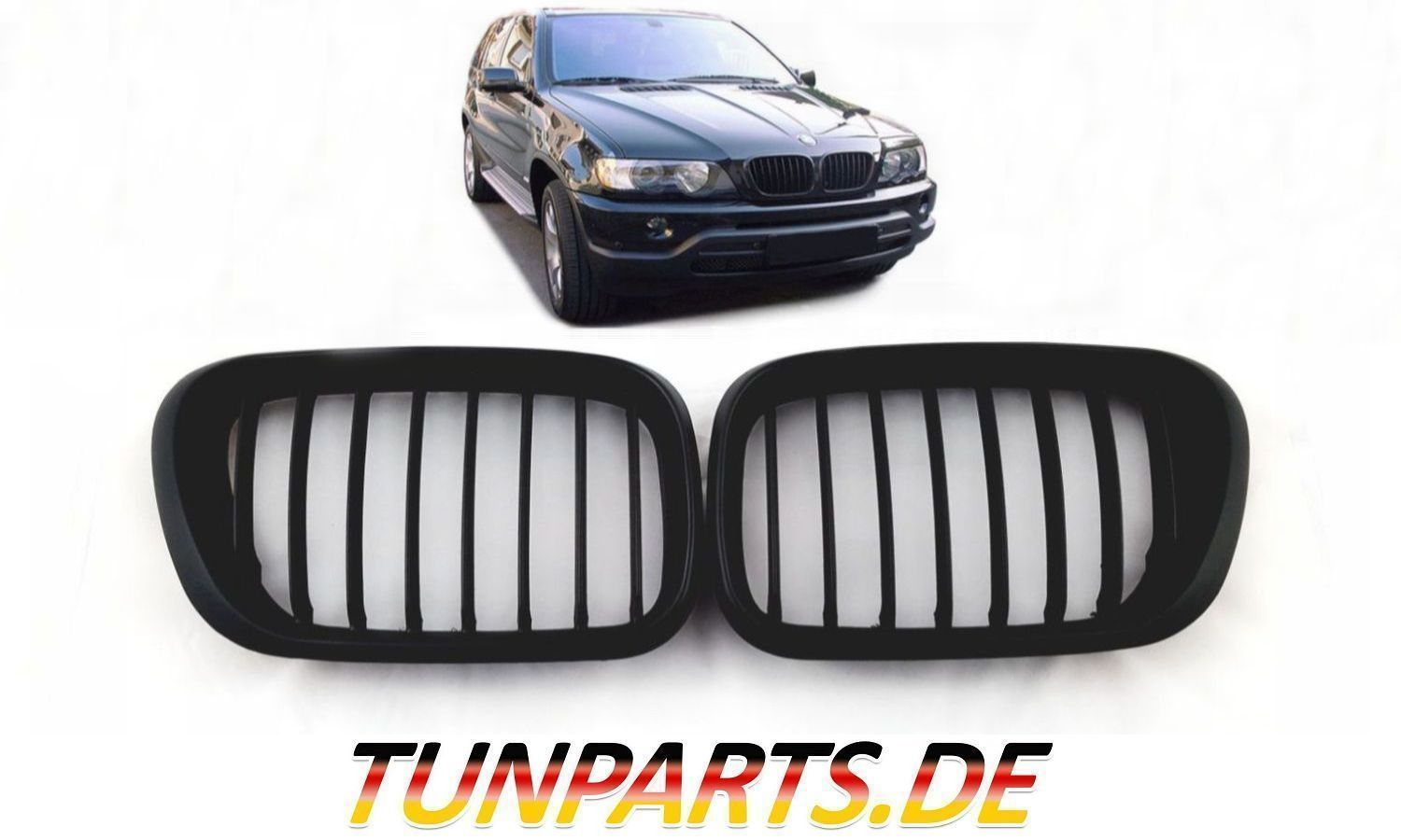 nieren grill k hlergrill f r bmw x5 e53 bei tunparts. Black Bedroom Furniture Sets. Home Design Ideas
