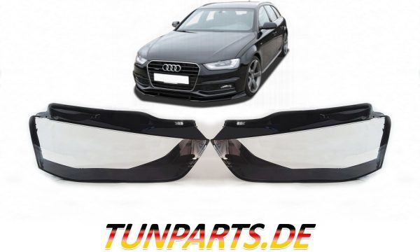 Audi Scheinwerfer Glas für A4 B8 Facelift