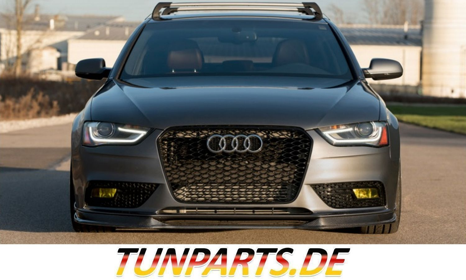 Fog Lights Covers Rs Look For Audi A4 B8 Facelift Black